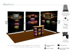 Stand enrouleurs - 15 m²